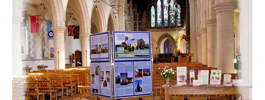 GGAT's Churches display panels on show ay St. Mary's Church, Swnasea.