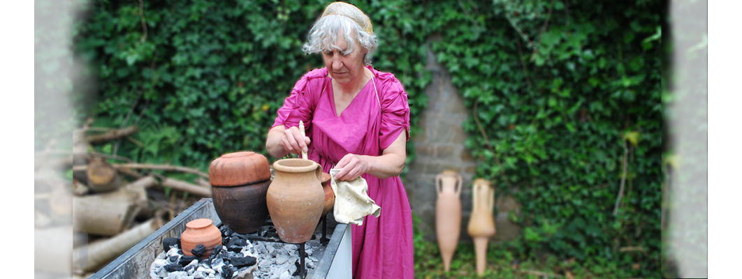 A Roman cook hard at work
